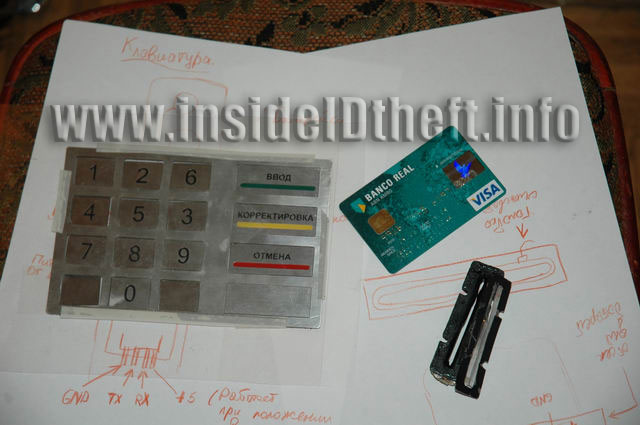 ATM keypad overlay and ATM/Debit Card Skimmer